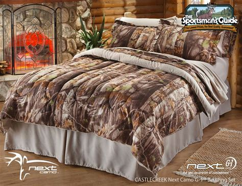 Camo Bed Sets : Rustic Hunters Bedroom Decor with Orange