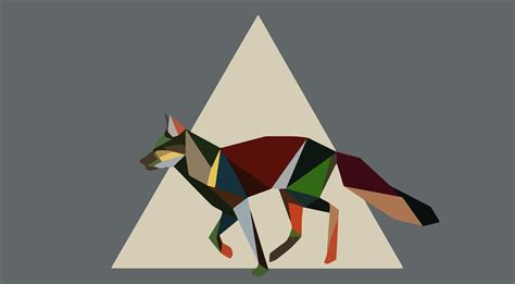 wallpaper fox low poly 3d nature animals artwork fox geometry triangle low Wallp