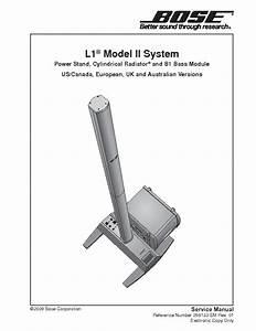 Bose L1 Ii System Service Manual Download  Schematics