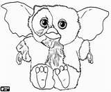 Gizmo Gremlins Gremlin Coloring Kleurplaat Kleurplaten Film Disegni Malvorlagen Holmes Sherlock Detective Seltsame Das Albino Fiocco Gorilla Neve Mascotte Een sketch template