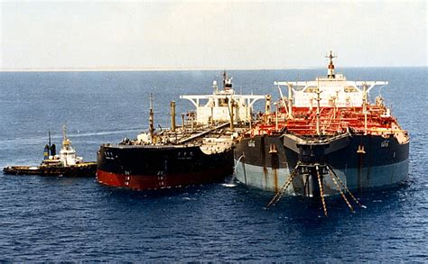 Deck of the fso safer, indicating the lack of basic maintenance for several years, leading to incidental smaller spills (supplied to i.r. Safer