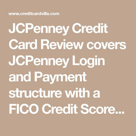 Employees can view their shift. JCPenney Credit Card Review   Credit card, Fico credit score