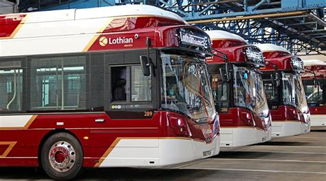 lothian introduce    electric buses