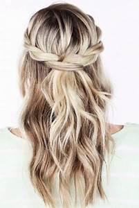 Coiffure Tresse Facile Cheveux Mi Long : coiffure pour un mariage cheveux mi long ~ Melissatoandfro.com Idées de Décoration