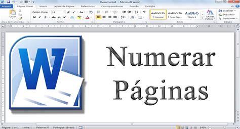 como numerar e não numerar as paginas no tcc monograf como numerar páginas no word a partir de uma determinada