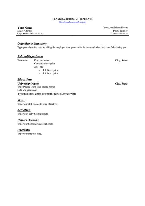 26 best images about basic on resume template