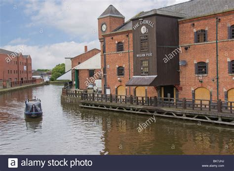 The Leeds and Liverpool Canal at Wigan Pier, as in the ...