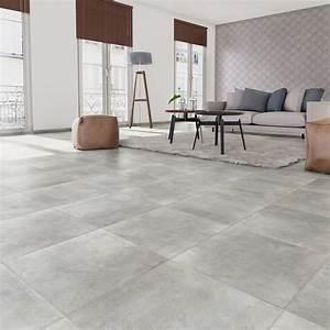 carrelage sol et mur gris clair effet beton laiton l604 With claire carrelage