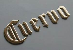 Embossed mylar scripts 3 d lettering 3 d letters raised for Embossed letters