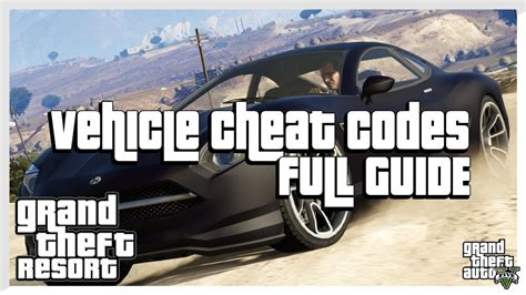 All Vehicle Spawn Cheat Codes (grand Theft