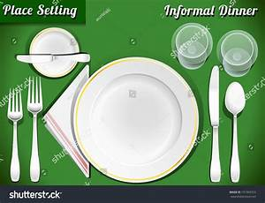 Setting Place Formal Placemat Place Setting Stock Illustration 191903723