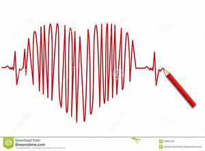 Heartbeat Stock Vector  Illustration Of Electrocardiogram