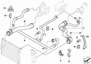 Bmw Genuine Expansion Tank Radiator Coolant Water Pipe Hose E46 17127511204