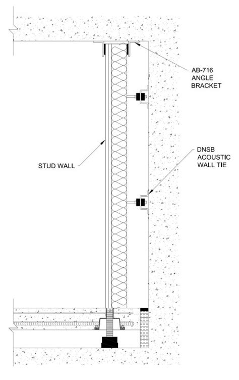 Cross Section of Acoustic Walls - Mason UK