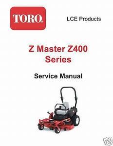 Toro Z Master Z400 Series Service Manual