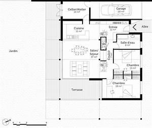 plan maison loft ooreka With superb voir sa maison en 3d 2 plan maison en bois de plain pied ooreka