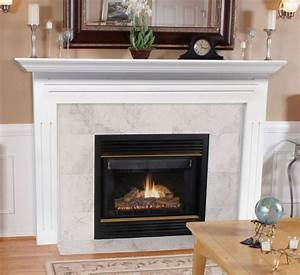 Pearl Mantels 510-48 Newport MDF Fireplace Mantel in White