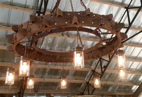 antique wagon wheel lighting