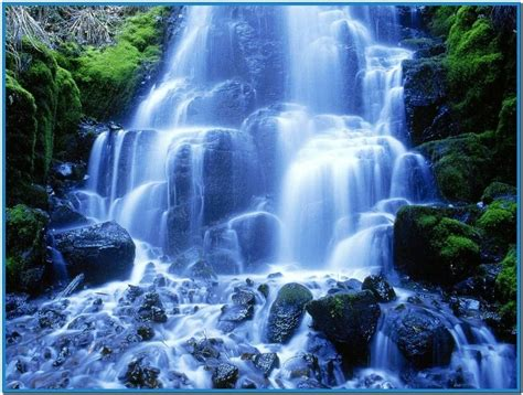 Living Waterfalls Animated Wallpaper - free living waterfall screensavers car interior design