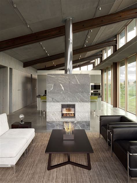 Fireplaces As Room Dividers 15 Double Sided Design Ideas