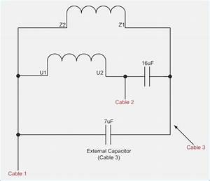 Single Phase Motor With Capacitor Wiring Diagram