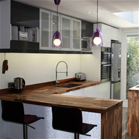 creating  kitchen breakfast bar  solid wood