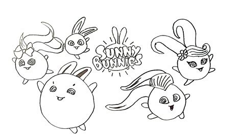 drawing sunny bunnies coloring page youtube