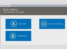 Microsoft Access EMR Template Database
