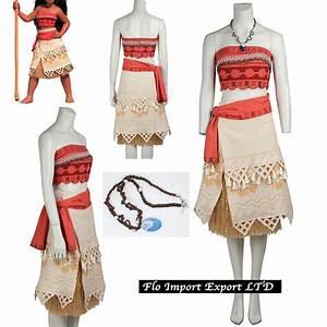 Vaiana Vestito Carnevale Donna Bambina Cosplay Dress Moana ...