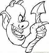 Ugly Demon Coloring Pages Tail Getcolorings Printable Coloringpages101 Mythology sketch template