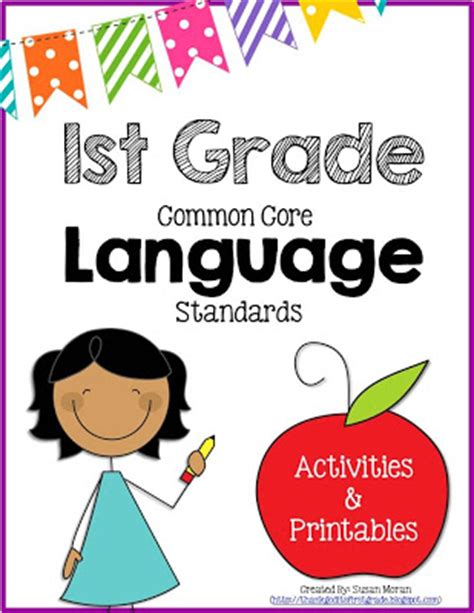 First Grade Common Core Language Activities And Printables!  Thank God It's First Grade