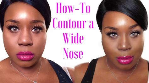 How To Contour A Wide Nose Blackchinabear Youtube
