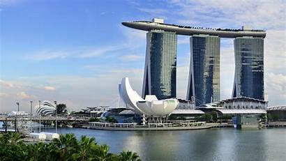 Marina Singapore Sands Bay Hotel Background Wallpapers