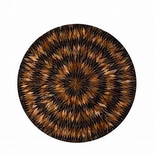 tapis rond diamond peau de vache prunelle With tapis rond de couleur