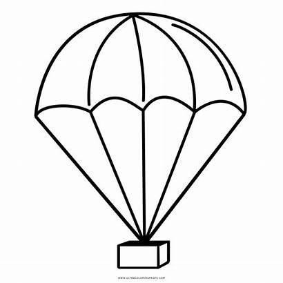 Parachute Clipart Colouring Coloring Fallschirm Dessin Coloriage