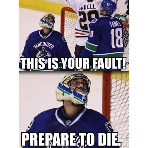Hockey Goalie Memes - hehe look who s celebrating in the background my icey heart pinterest hockey scores