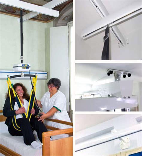 sollevatori per disabili a soffitto sollevatore a binario sistema ad h per persone disabili e