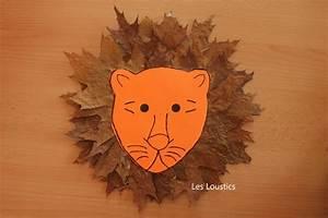 Feuilles D Automne à Imprimer : un lion en feuilles les loustics ~ Nature-et-papiers.com Idées de Décoration