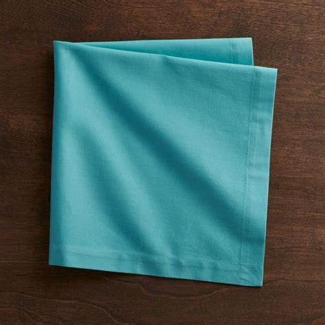 Fete Aqua Blue Cloth Napkin + Reviews | Crate and Barrel