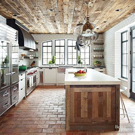 brick floor in kitchen 30 practical and cool looking kitchen flooring ideas 4883