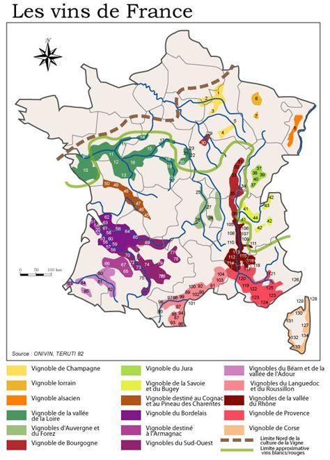 Acheter Carte Des Vignobles Français localisation des vignobles d aoc vouvray petillant