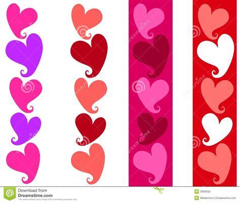 Simple Valentine Heart Borders Stock Illustration ...