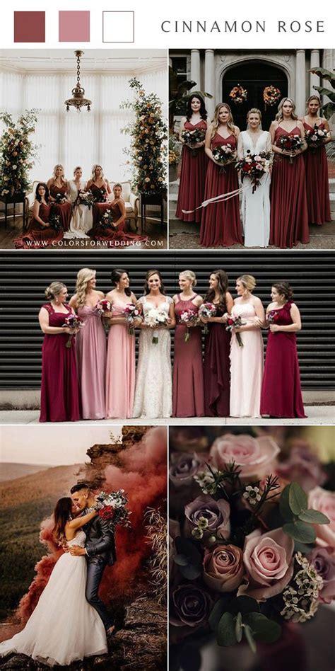 Top 15 Cinnamon Rose Bridesmaid Dresses and Wedding Color
