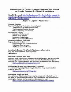 Solution Manual For Cognitive Psychology Connecting Mind