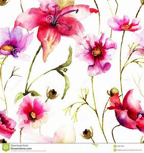 Décolleuse De Papier Peint : papier peint sans couture avec la fleur stylis e photo ~ Dailycaller-alerts.com Idées de Décoration