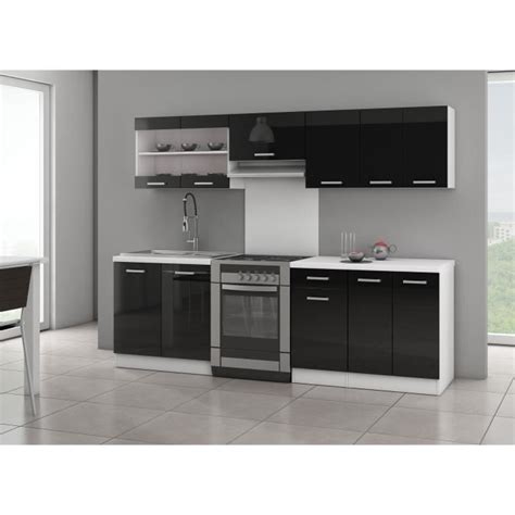 cuisine laque noir jasny cuisine complète 2m40 noir laqué achat vente