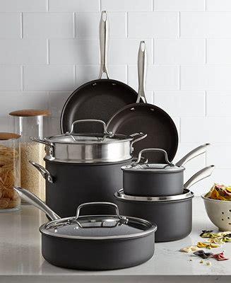 cuisinart hard anodized  pc cookware set cookware cookware sets kitchen macys