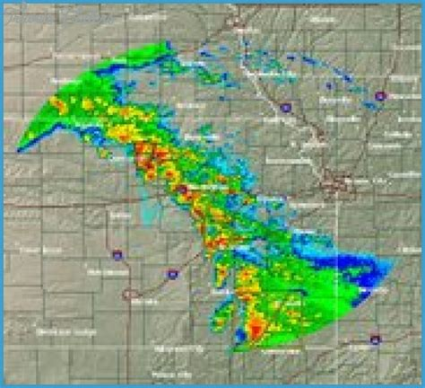 kansas weather map travel map vacations