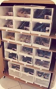 Idee Rangement Chaussure : pas hyper cute mais pratique rangement chaussures bree van de kamp challenge organise shoes ~ Teatrodelosmanantiales.com Idées de Décoration
