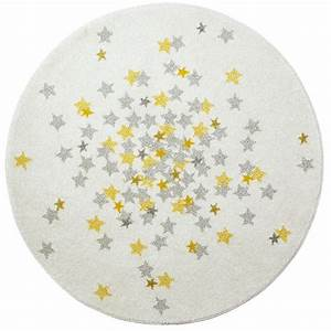 tapis rond jaune idees de decoration interieure french With tapis rond jaune